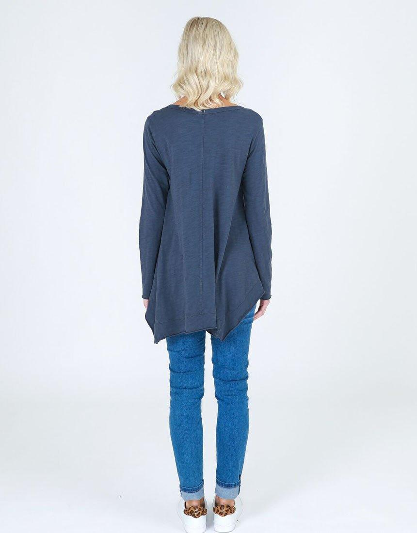 3rd Story The Label Willow Long Sleeve Tee - Indigo