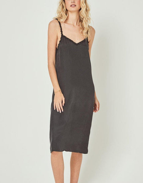 Auguste Honey Midi Dress - Black