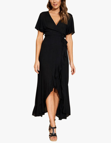 Savannah Wrap Dress - Black