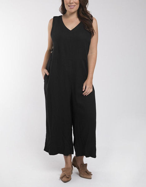 Elm Embrace Penny Jumpsuit - Black
