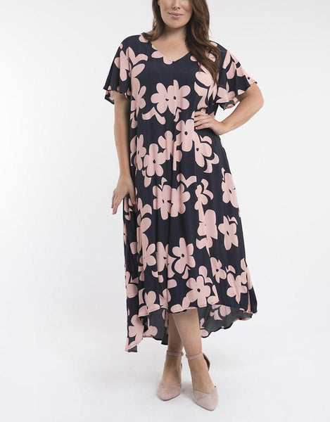 Elm Embrace Poppy High Low Dress - Navy