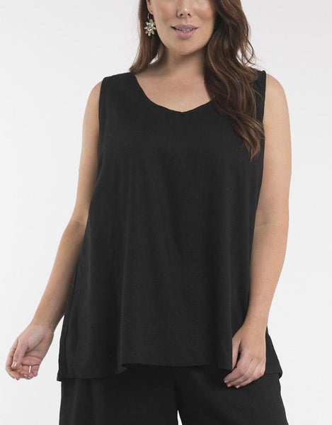Elm Embrace Staple Cami - Black