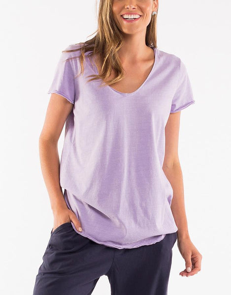 Elm Fundamental V Neck Tee - Ice Lilac