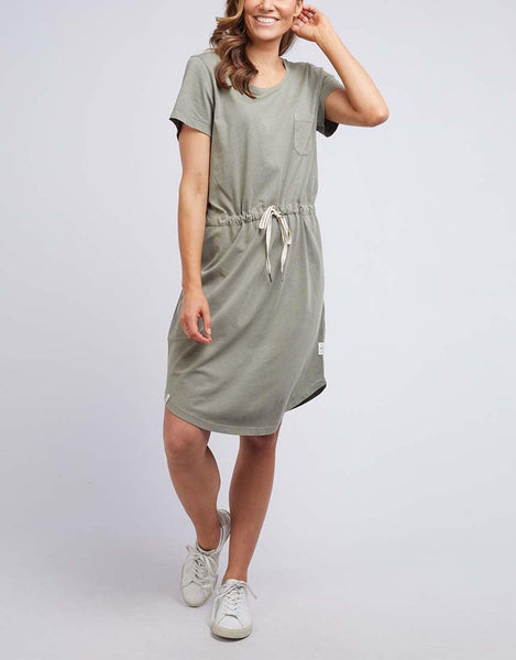 Elm Harper Dress - Washed Khaki