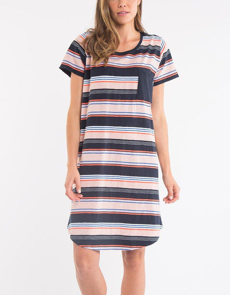 Elm Solstice Stripe Tee Dress