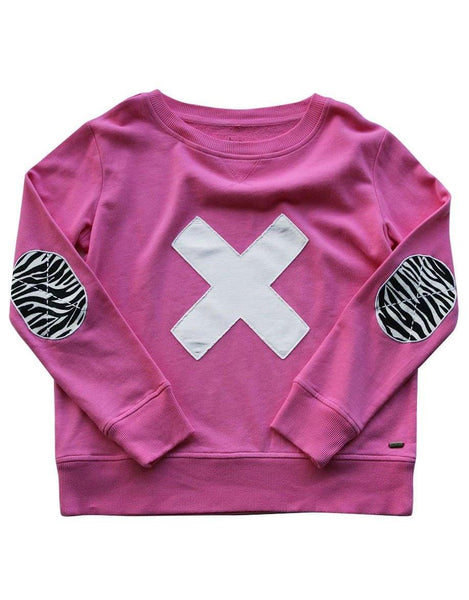 Est 1971 Zebra Cross Windy - Hot Pink