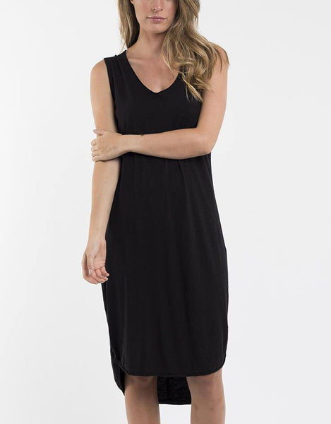 Foxwood Argousey Tank Dress - Black