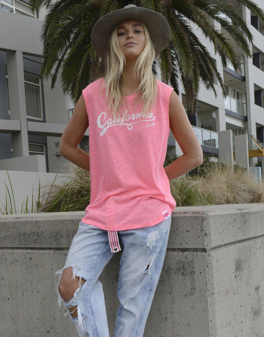 Hammill + Co Summer Tank - Hot Pink