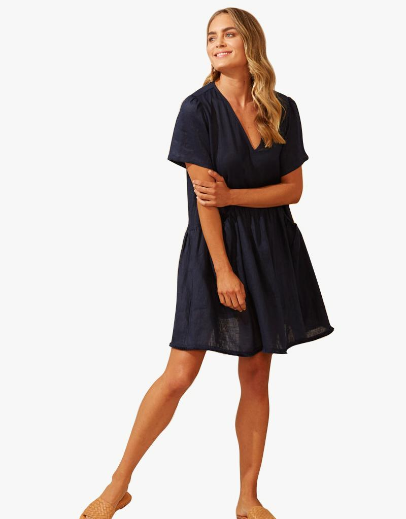 Martinique Dress - Navy