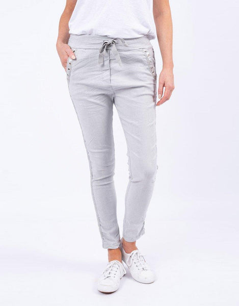 Italian Star Summer Jeans - Grey