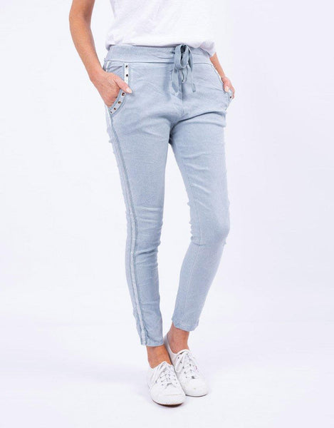 Italian Star Summer Jeans - Pale Blue