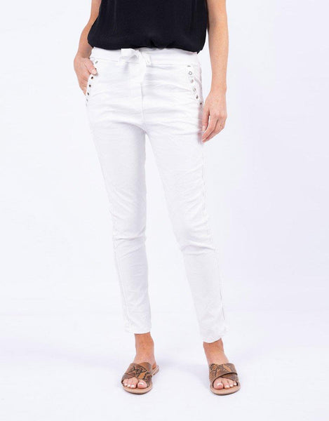 Italian Star Summer Jeans - White