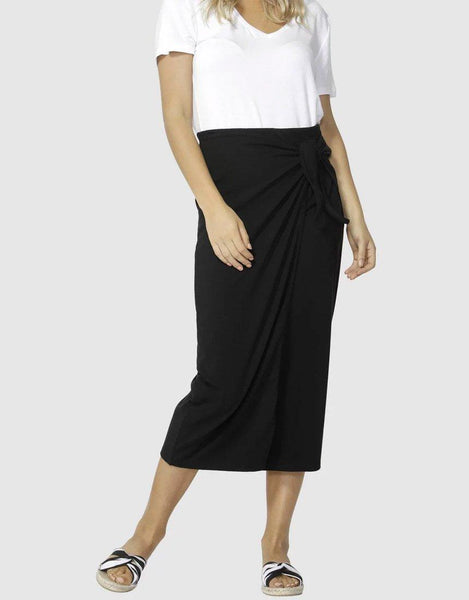 Lana Midi Skirt - Black