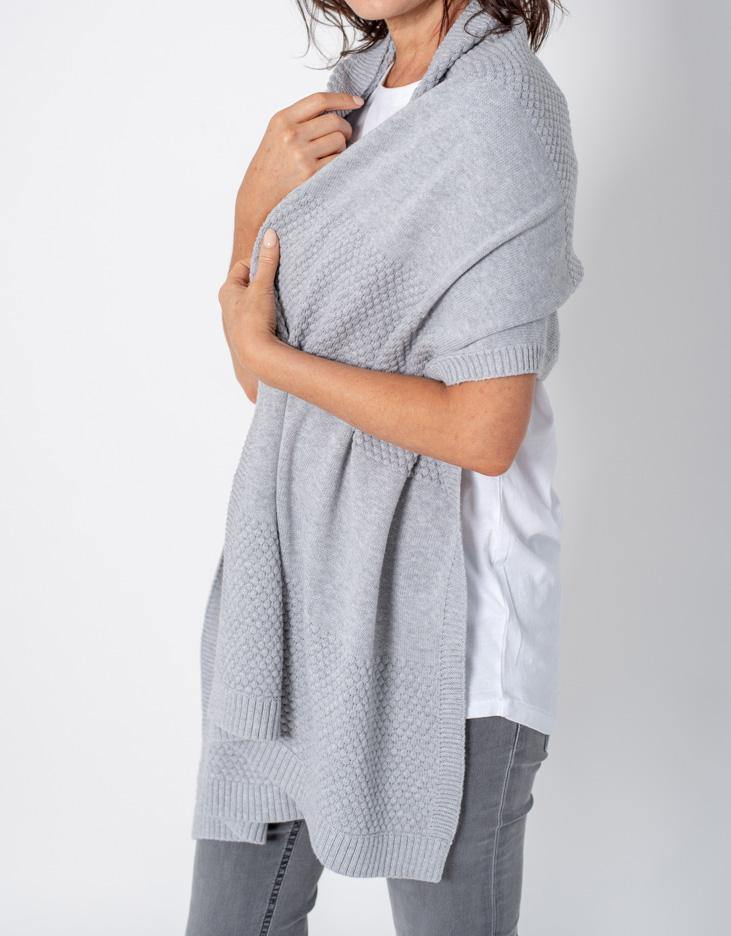 Bubbles Scarf/Wrap - Light Grey