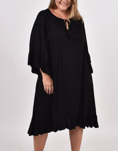 Flyaway Dress - Black