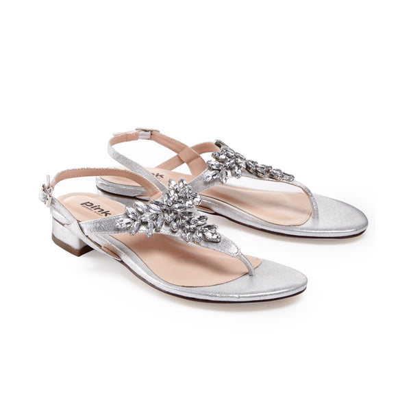 Strappy crystal  flats