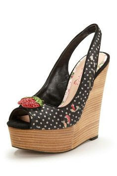 Christie Black Wedge
