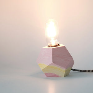 Jesmonite Hex Lamp