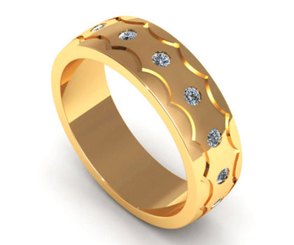 Modern Ring Bands & Wedding Bands