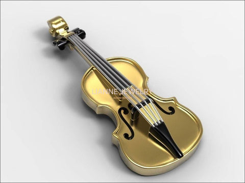 Violin Pendant 14K Or 18K Yellow & White Gold Music Teacher Gift Violin Charm Antique Gold Music Themed Pendant Music Instrument Jewelry - Lianne Jewelry