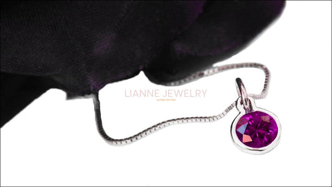 Purple Pendant Round Pendant Celtic Pendant Amethyst Pendant Round Charm Gold Minimalist pendant February March Birthstone Back to school - Lianne Jewelry