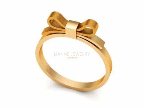 Filigree Engagement Ring, Surprise Gold Wedding Band Flower ring band 18K gold present ring - Lianne Jewelry