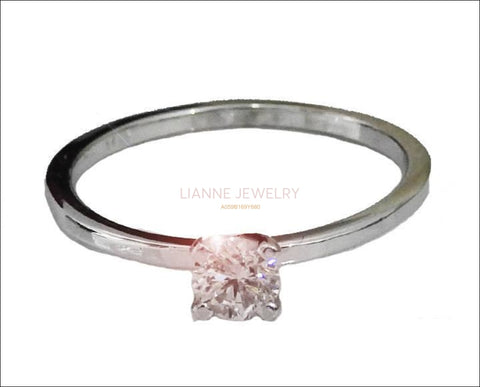 Diamond ring Gold ring Gold Ring Unique Ring Engagement Ring Solitaire Ring  Diamond Ring full Brilliance - Lianne Jewelry