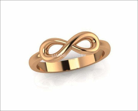 Infinity Gold Ring, Infinity Band, Infinity Knot Ring, Infinity Promise Ring For Her, Gold Promise Rings, Yellow Gold Infinity Ring - Lianne Jewelry
