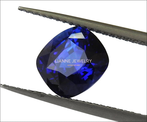 Sapphire Fine Quality Gemstone Certified by GRS 3.51 ct Blue Gemstone Natural Gem Cushion Shape for Genuine Sapphire Pendant Sapphire Ring - Lianne Jewelry