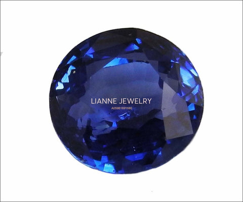 Round Blue Sapphire 9mm Gemstone Certified by GIA 5.32 carat Round Brilliant cut Genuine Sapphire for Gemstone Collectors or Valentines Gift - Lianne Jewelry