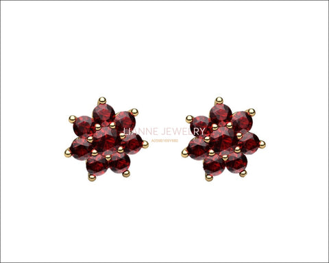 1.90 ct Top of the Line Ruby Earrings Genuine Rubies Pigeon Blood Red Stud Earrings - Lianne Jewelry
