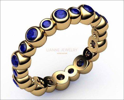 Sapphire Bella Ring 20 stones 18K Yellow Gold for your Love One - Lianne Jewelry