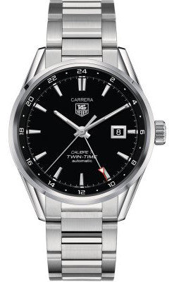 Tag Heuer Carrera Twin Time Caliber 7 Automatic 41mm - Heritage Watches