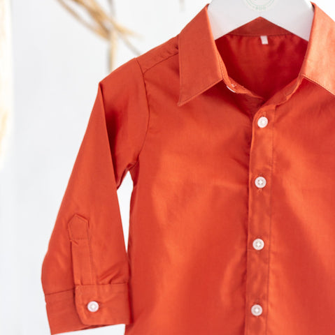 Hunter and Boo Kids Organic Cotton Terracotta Shirt