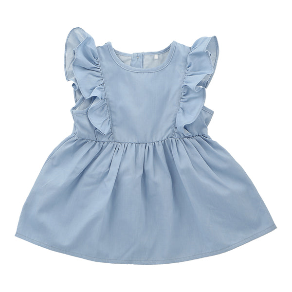 Hunter + Boo Frill Dress - Chambray