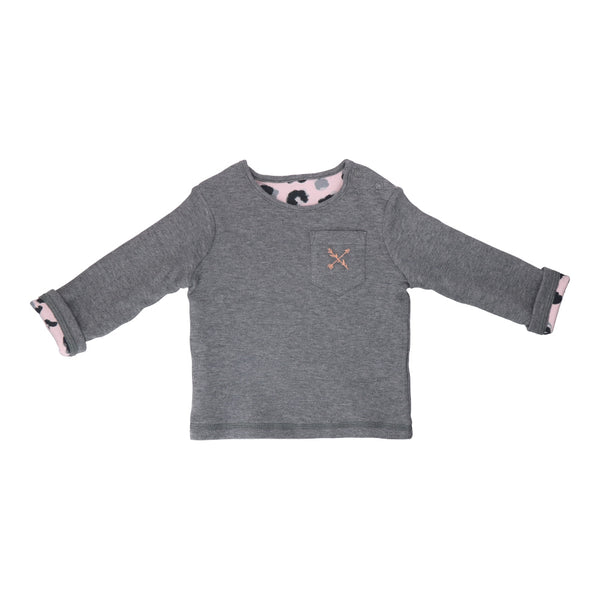 Hunter + Boo Reversible Sweater - Yala Pink/Grey