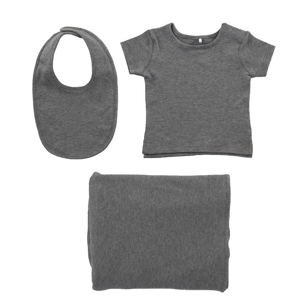 Hunter+Boo Hey Baby Gift Set - Grey Marl