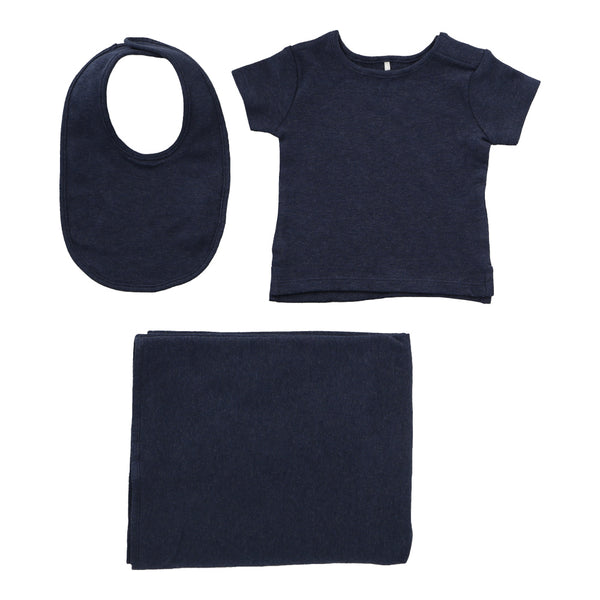 Hunter+Boo Hey Baby Gift Set - Navy Marl