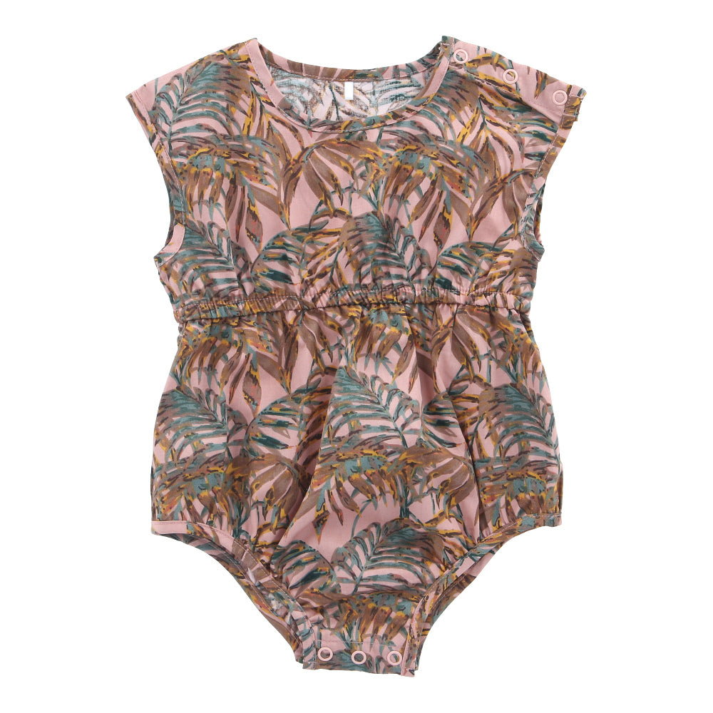Hunter + Boo Short Playsuit - Nude Palawan