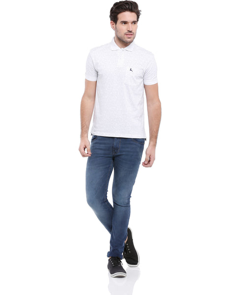 Parx White Men T-Shirt