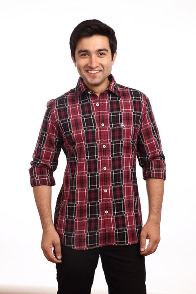 Parx Maroon Men's Shirt