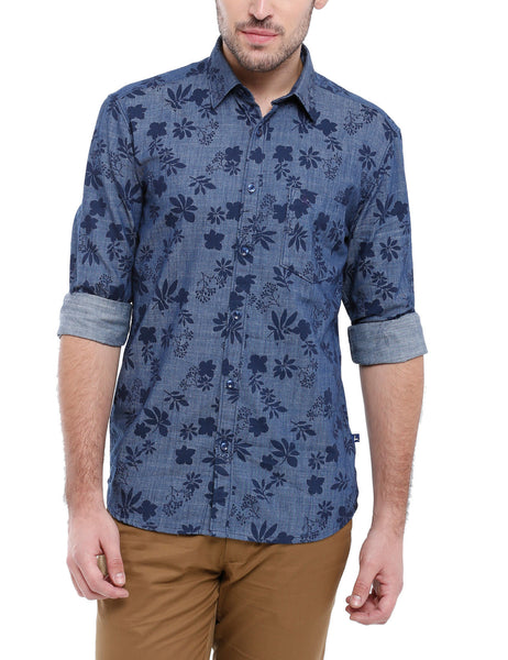 Parx Dark Blue Men Shirt