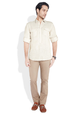 Parx Beige Men Shirt