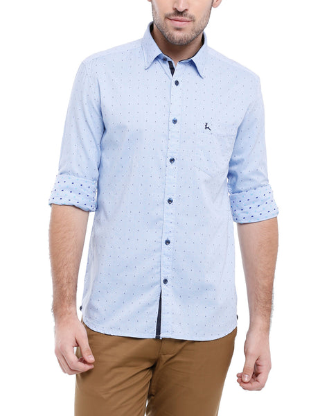 Parx Light Blue Men Shirt
