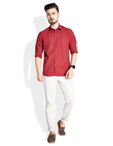 Parx Dark Red Men's Shirt