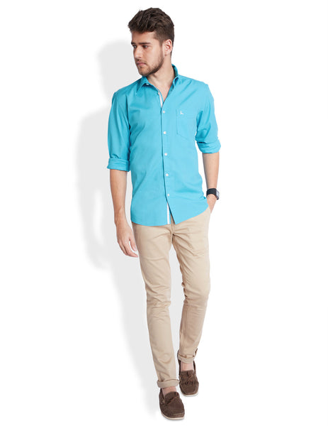 Parx Light Blue Men's Shirt