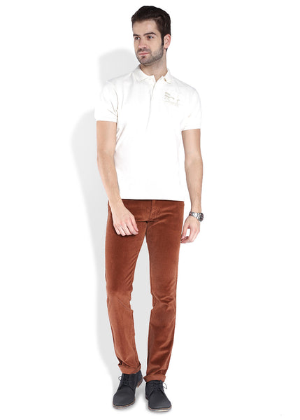 Parx Orange Men Trouser