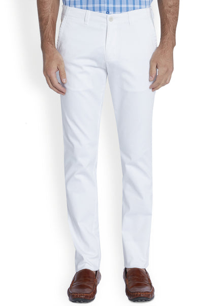 Parx White Men's Trouser