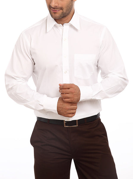 ColorPlus White Men's Shirt