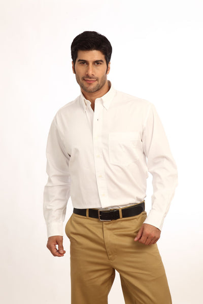 ColorPlus White Men Shirt